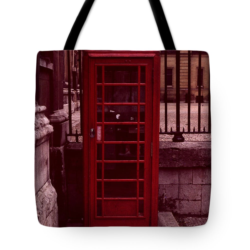 Cityscape Tote Bag featuring the photograph London Telephone by David Hohmann