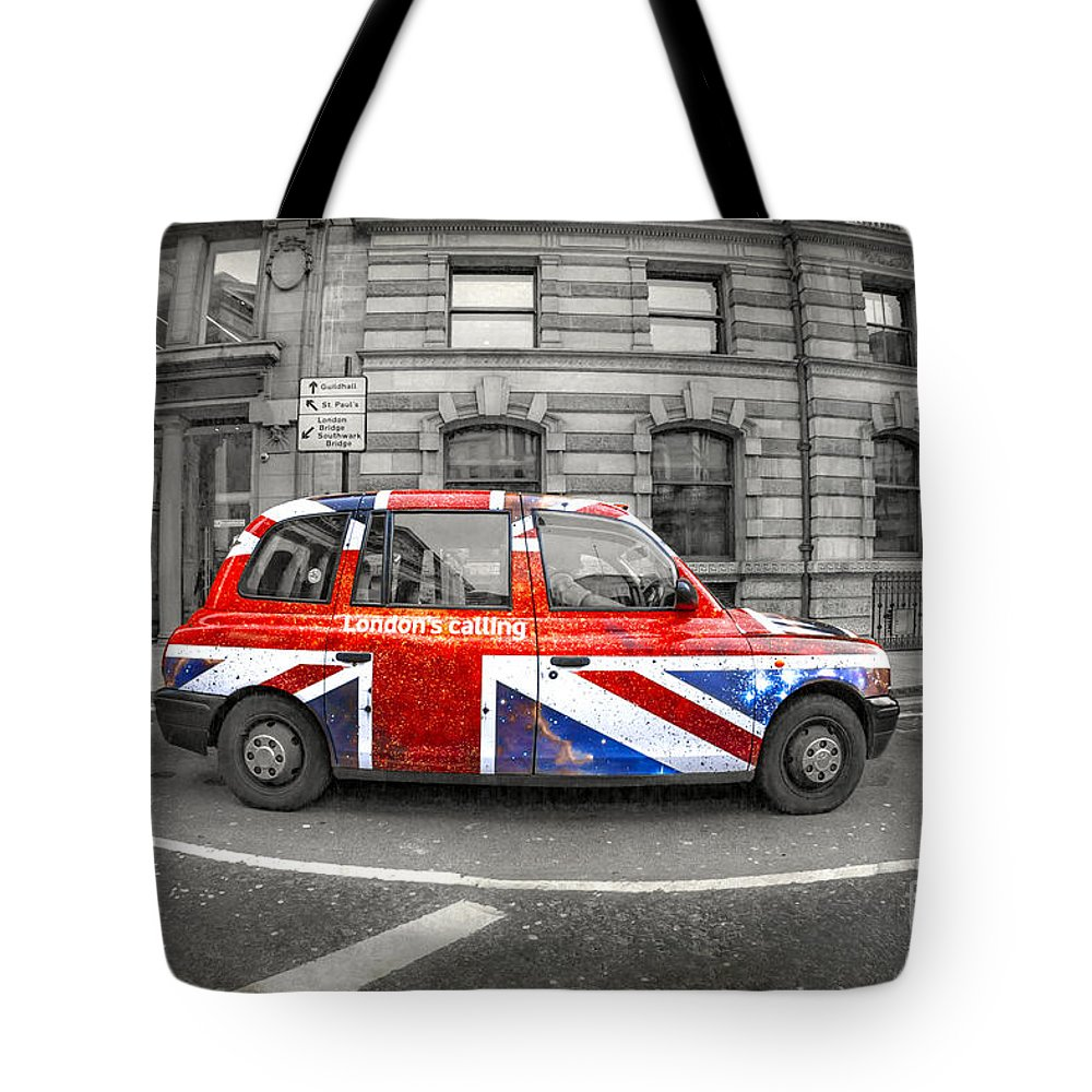 London Tote Bag featuring the photograph London's Calling by Evelina Kremsdorf