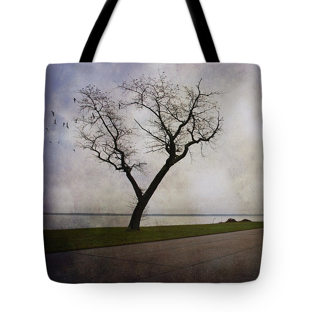 Tree Tote Bag featuring the photograph Lone Tree In Winter by Amy Jackson