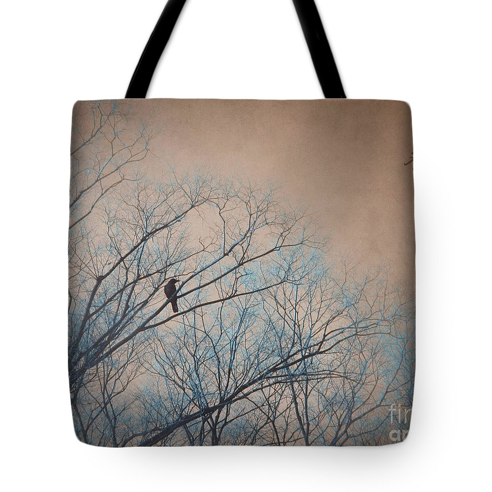 Crow Tote Bag featuring the photograph Lonely by Eena Bo