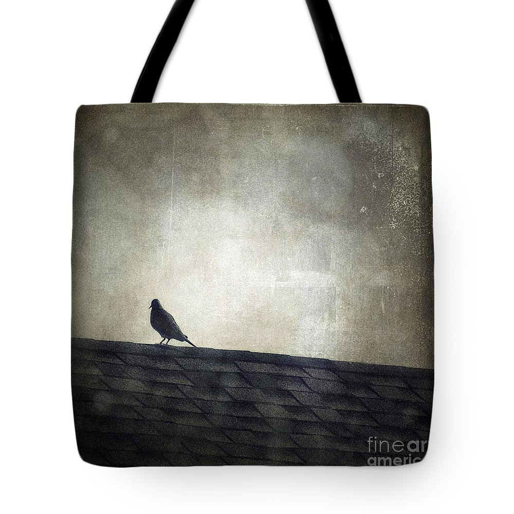 Leflaneuse Texture Tote Bag featuring the photograph Lonesome Dove by Trish Mistric