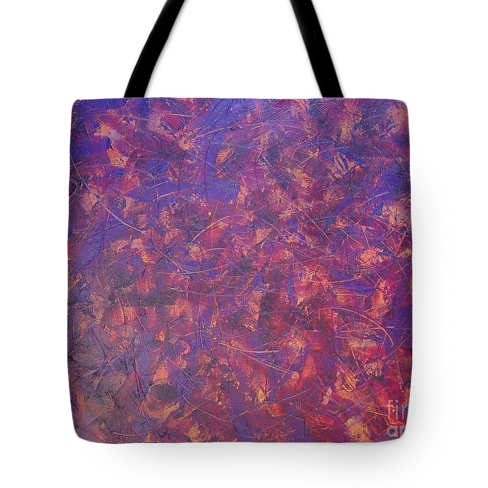 Abstract Tote Bag featuring the painting Long Beach 5am by Dean Triolo