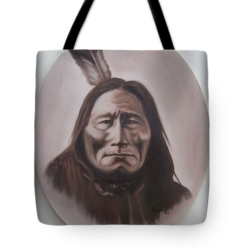 Michael Tote Bag featuring the painting Long Bear by Michael TMAD Finney