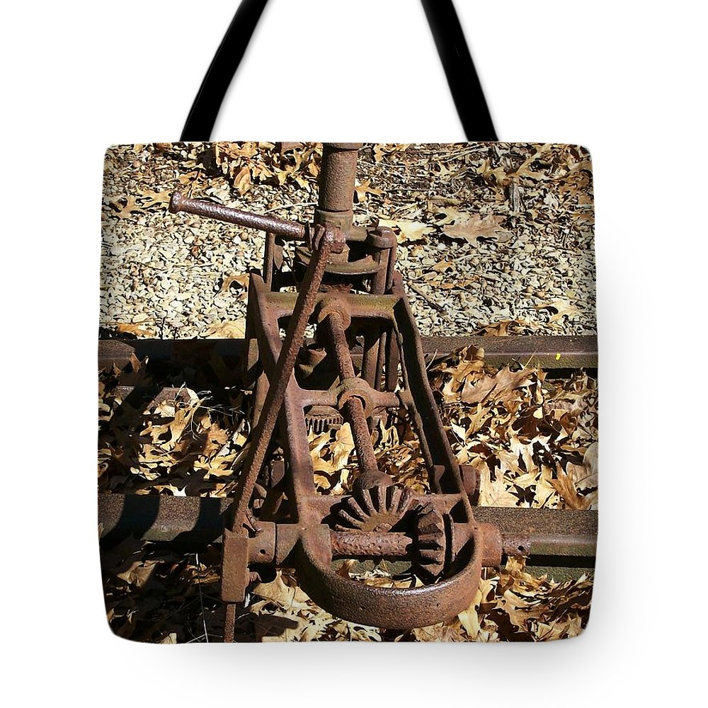Railroad Tote Bag featuring the photograph Long Forgotten by Sara Raber