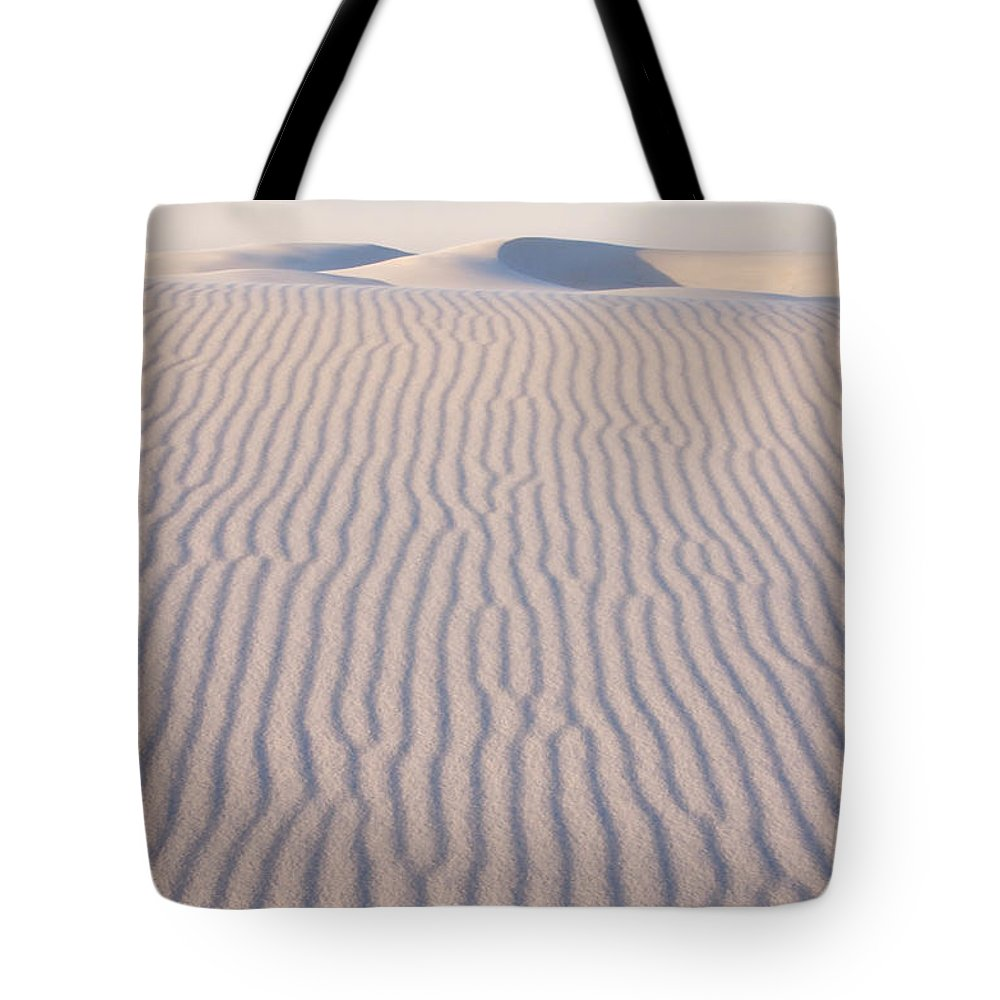 White Sands Tote Bag featuring the photograph Long Lines by Vivian Christopher