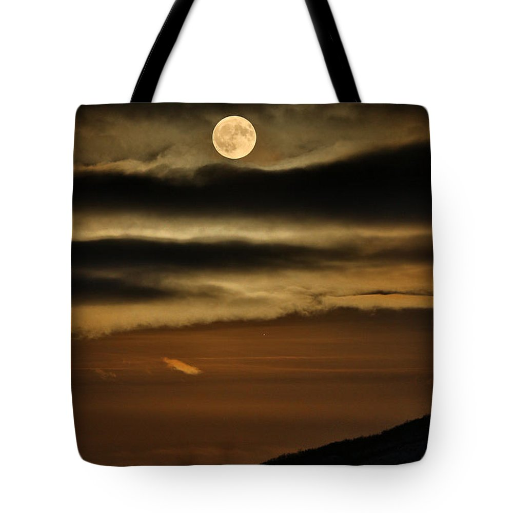 Moon Tote Bag featuring the photograph Long Nights Moon by Pekka Sammallahti