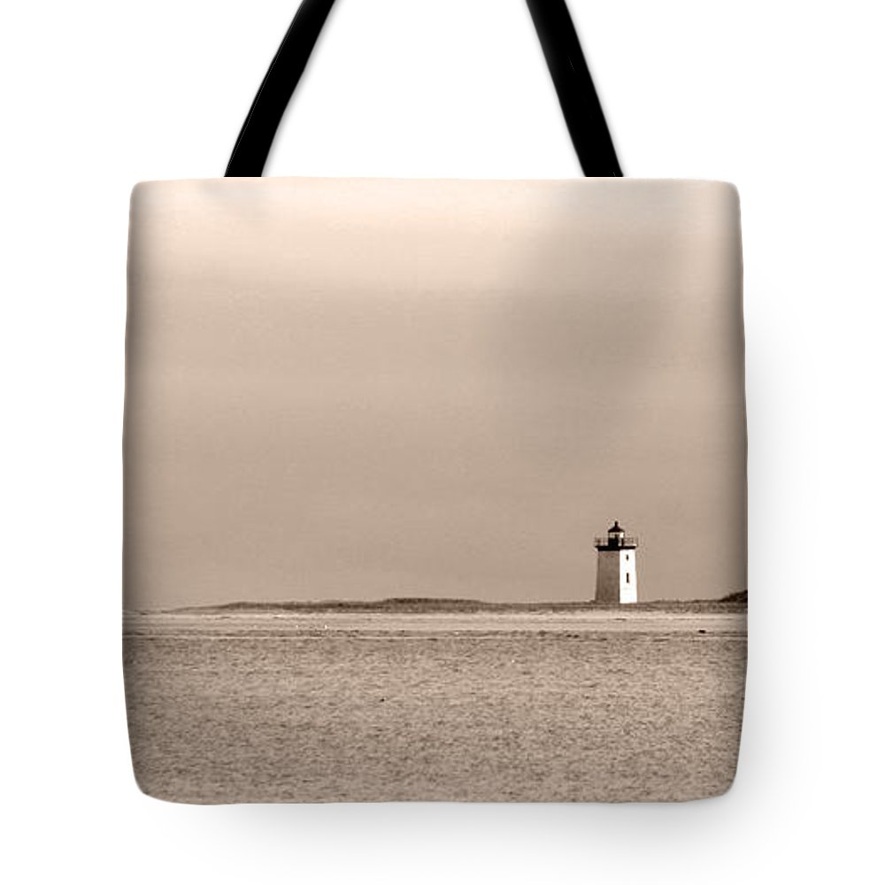 Long Point Lighthouse Tote Bag featuring the photograph Long Point Sentinel Provincetown Massachusetts by Michelle Wiarda-Constantine