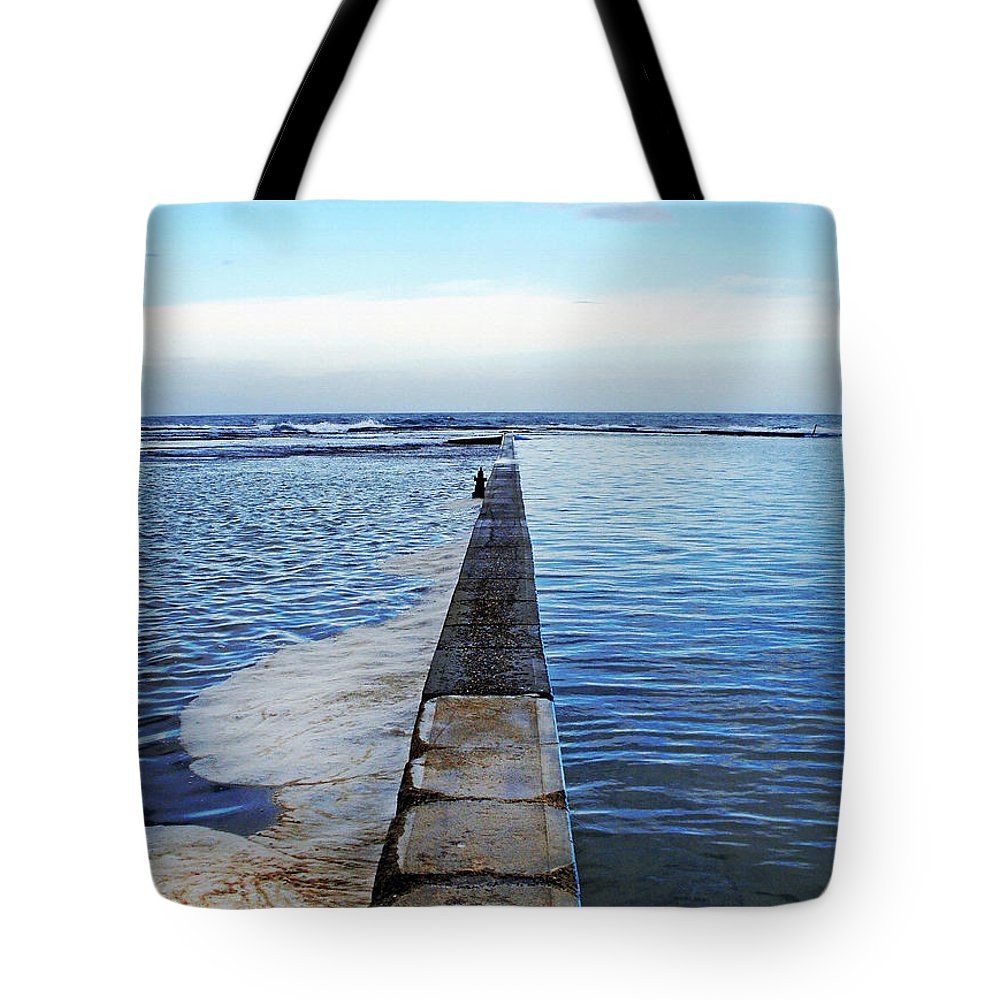 Photography Tote Bag featuring the photograph Long View To The Ocean by Kaye Menner