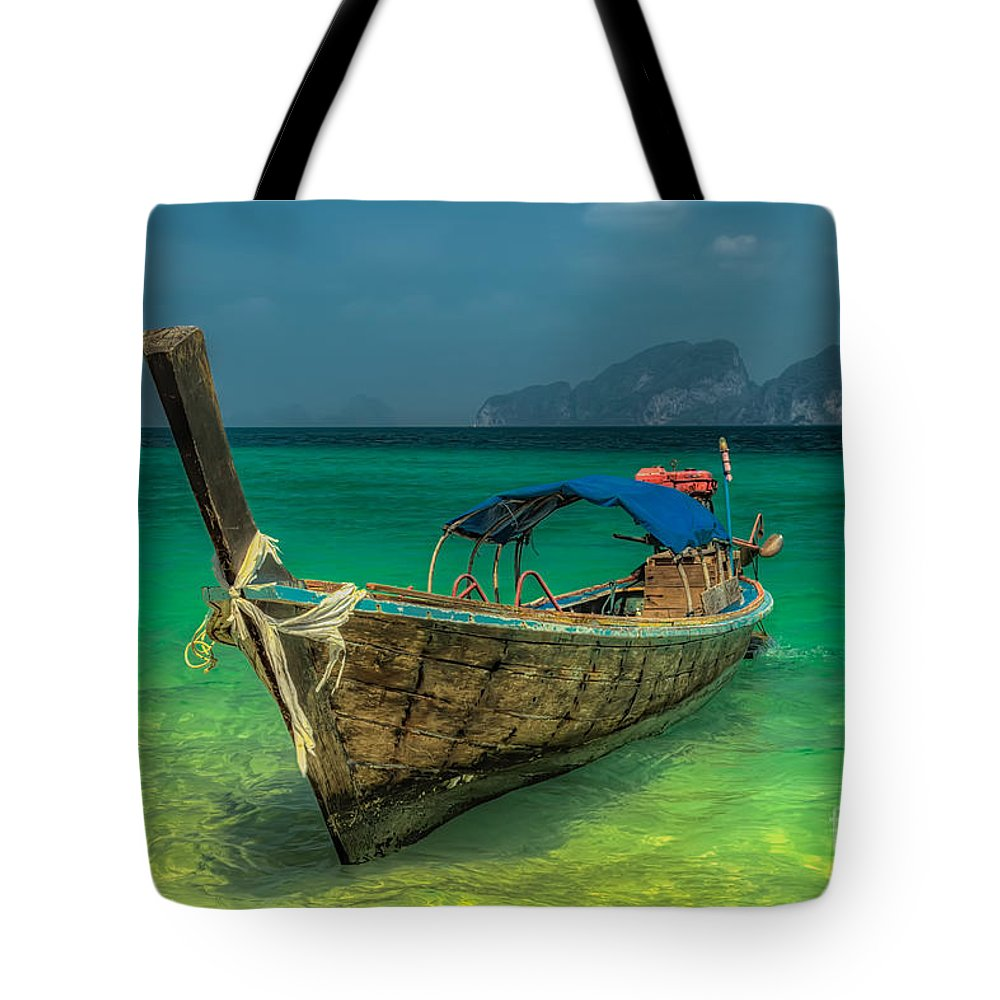 Boats Photographs Tote Bags