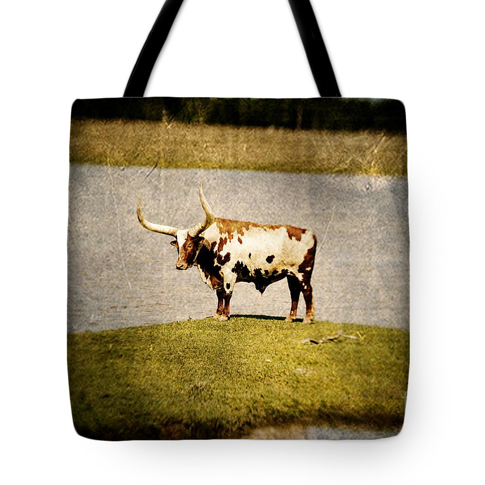 Lensbaby Tote Bag featuring the photograph Longhorn by Scott Pellegrin