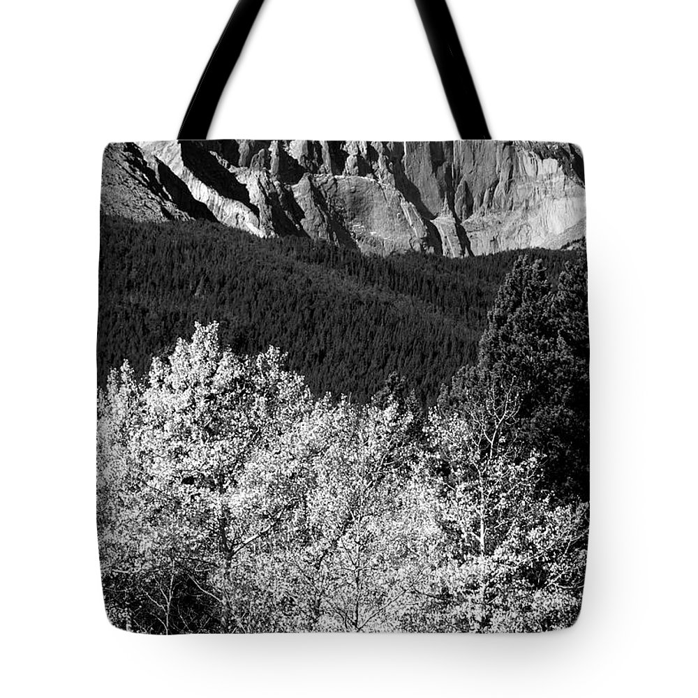 Longs Peak Tote Bag featuring the photograph Longs Peak 14256 Ft by James BO Insogna