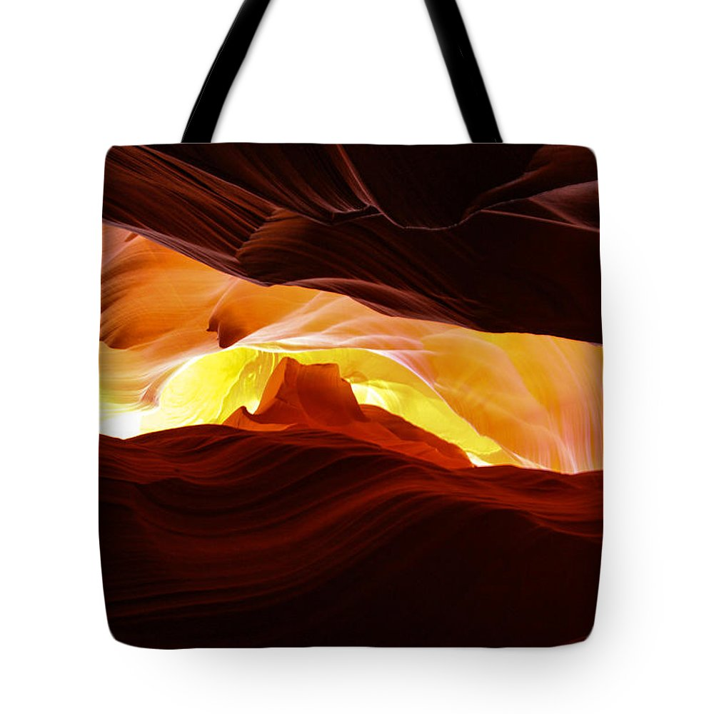 Antelope Canyon Tote Bag featuring the photograph Look Up by Jennifer Ansier