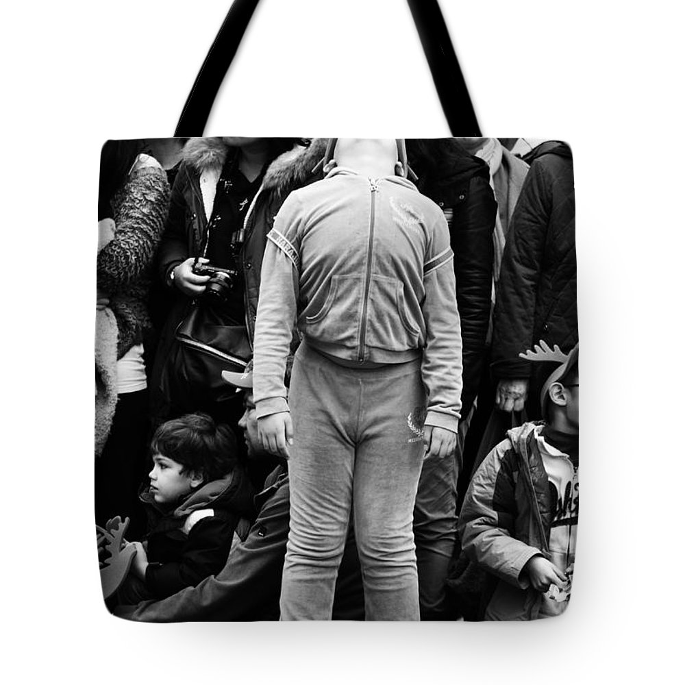 Street Photography Tote Bag featuring the photograph Look Up by The Artist Project