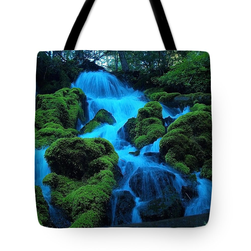 Rocks Tote Bag featuring the photograph Lookin Up by Teri Schuster