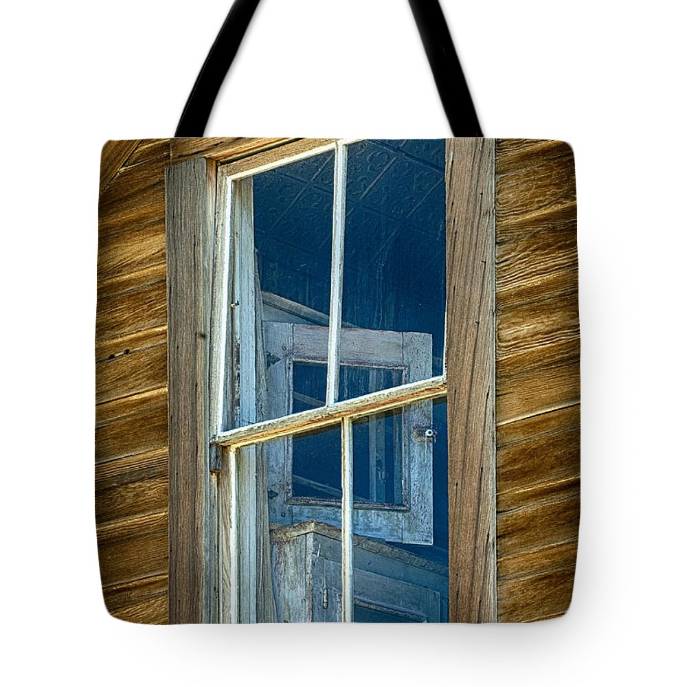 Architecture Tote Bag featuring the photograph Looking Back In Time by Sandra Bronstein