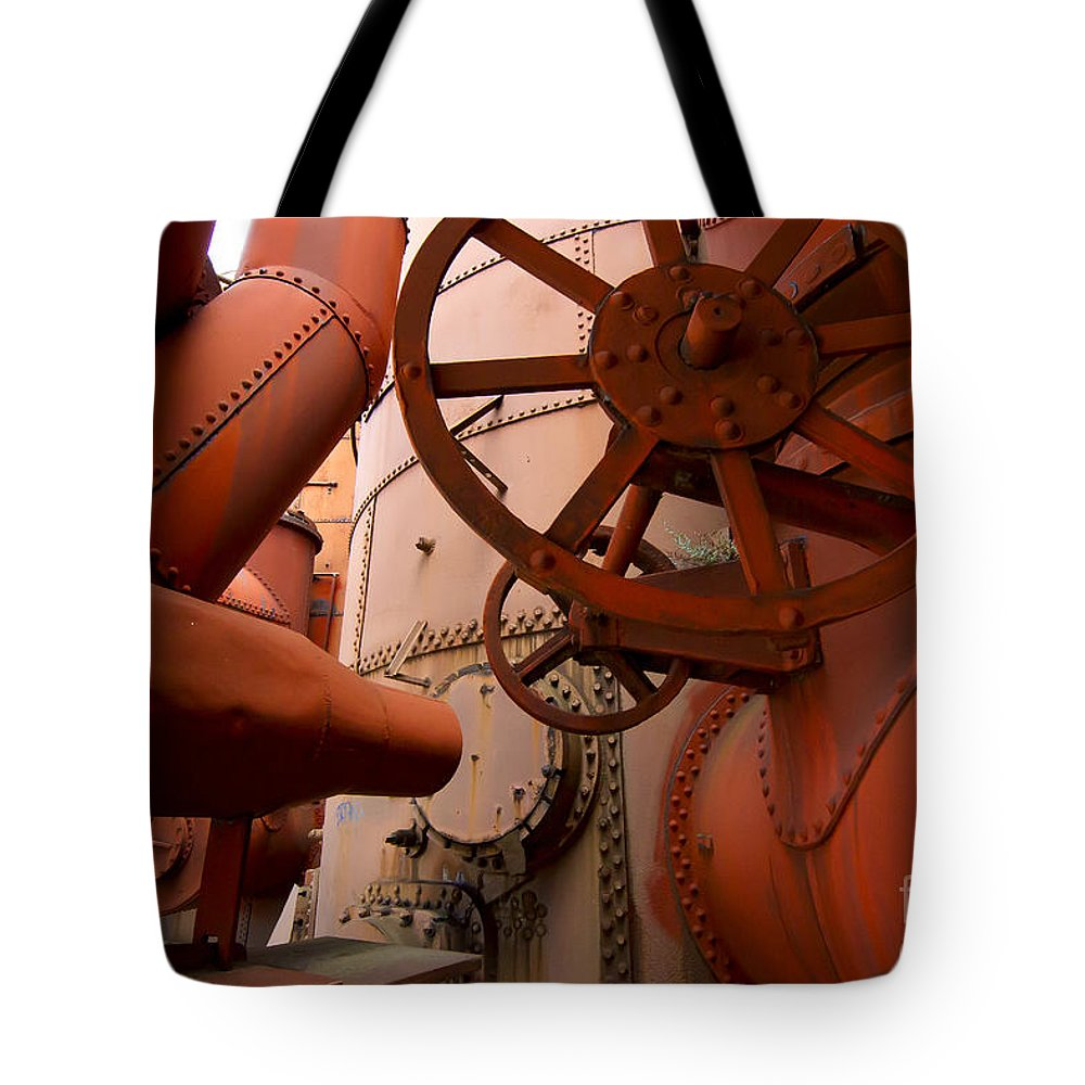 Furnace Stacks Tote Bag featuring the photograph Looking For A Way Out  #1642 by J L Woody Wooden