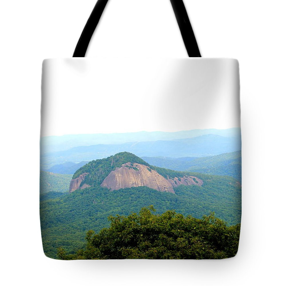 Looking Glass Rock Tote Bag featuring the photograph Looking Glass Rock by Mary Koval