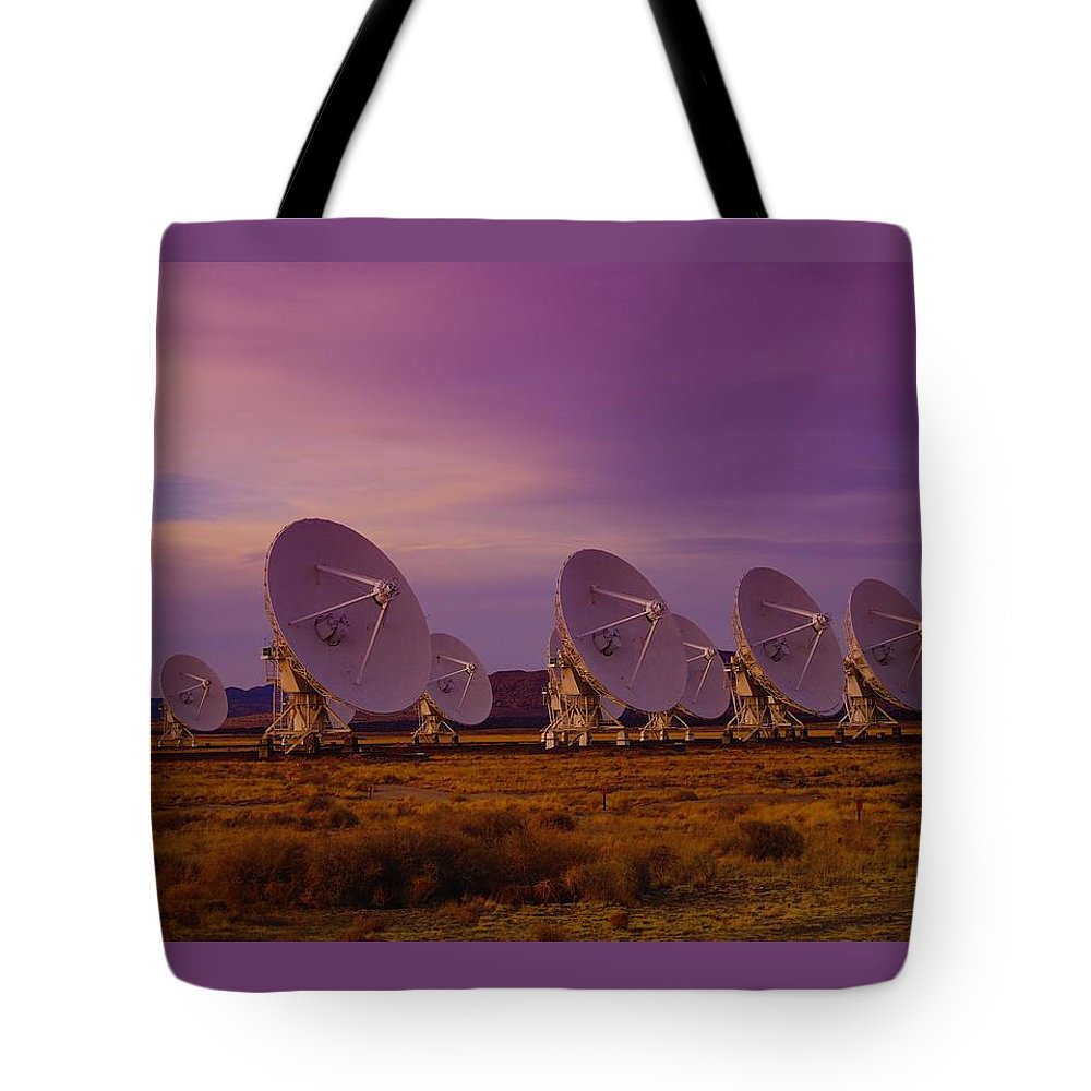 Very Large Array Tote Bag featuring the photograph Looking Outward by Jeff Swan