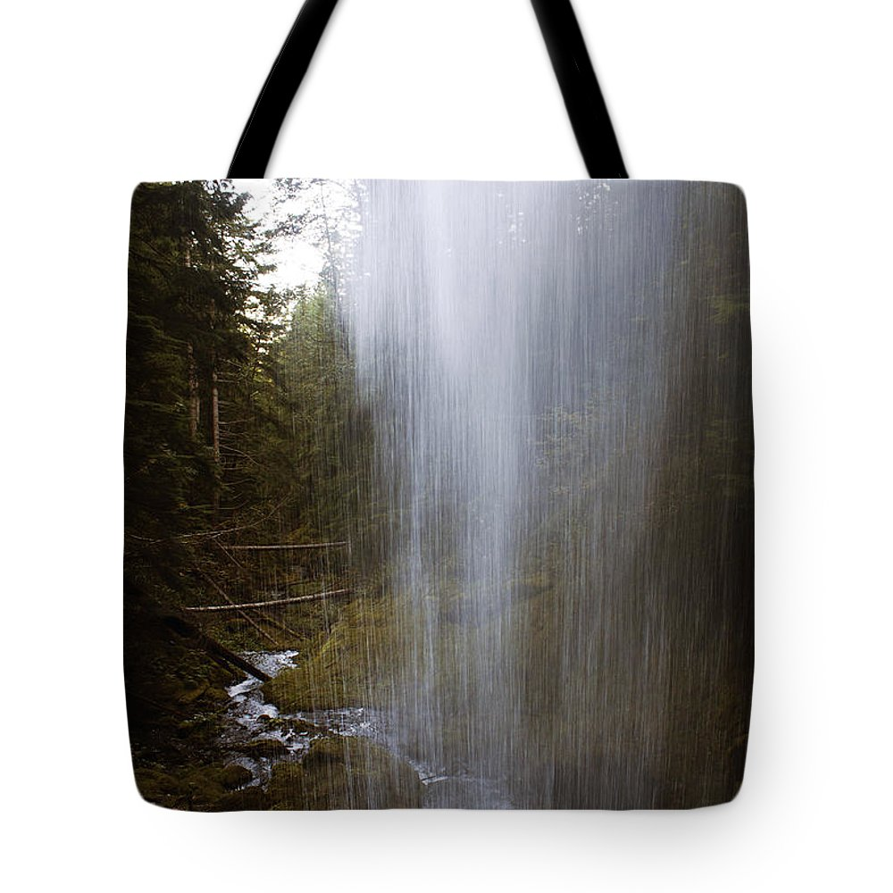 Angel Falls Tote Bag featuring the photograph Looking Through Angel Falls by Edward Hawkins II
