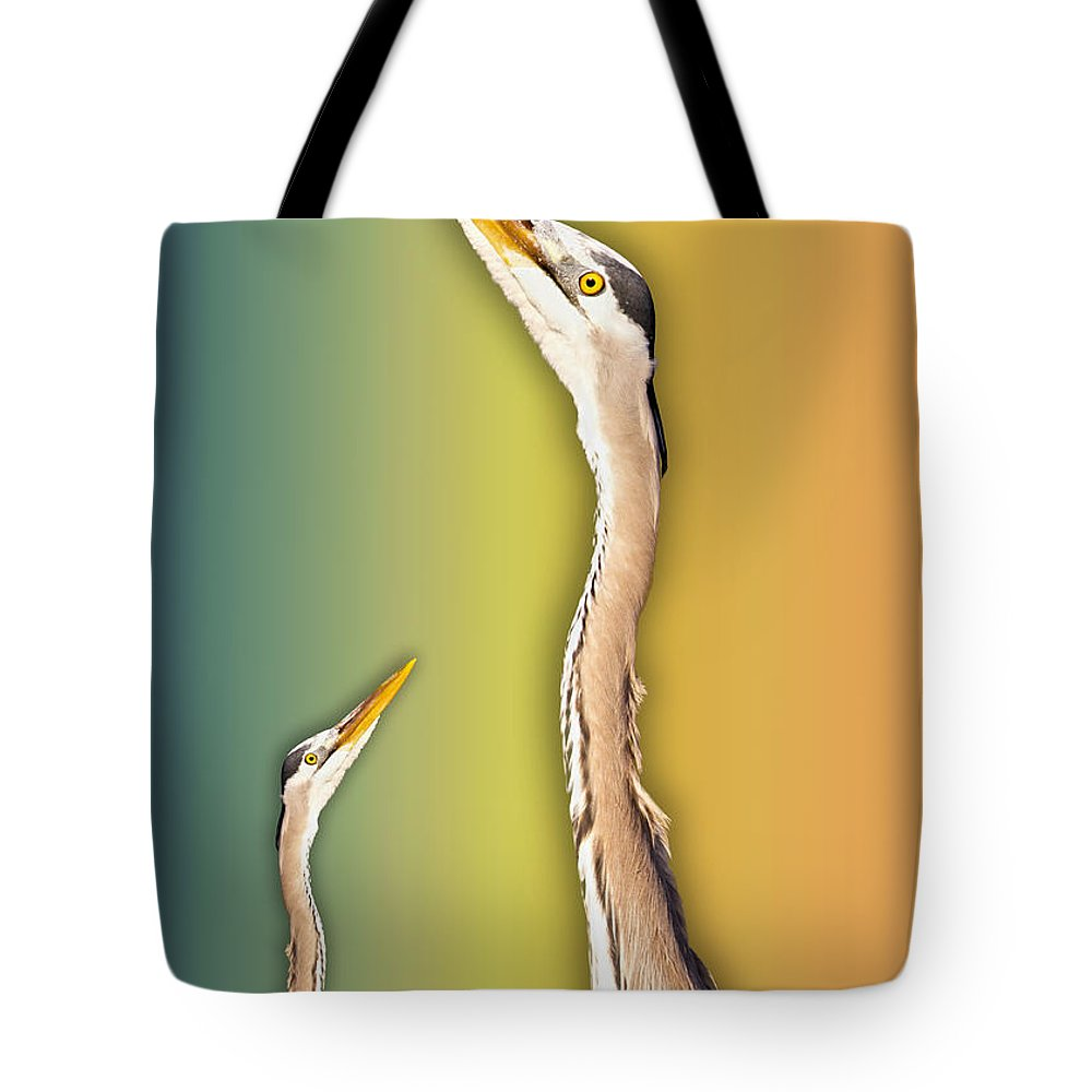 Blue Tote Bag featuring the digital art Looking Up 1 Of 2 by Betsy Knapp