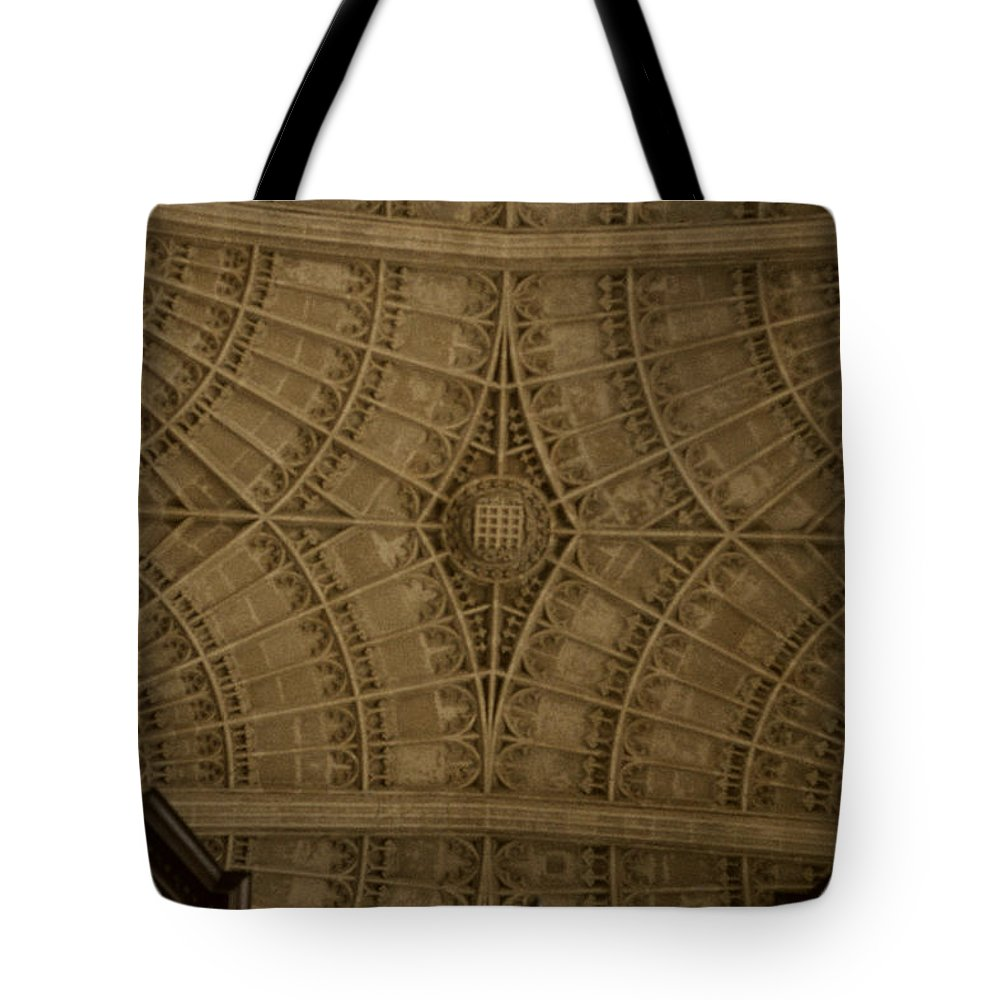 Looking Up Tote Bag featuring the photograph Looking Up King's College by David Hohmann