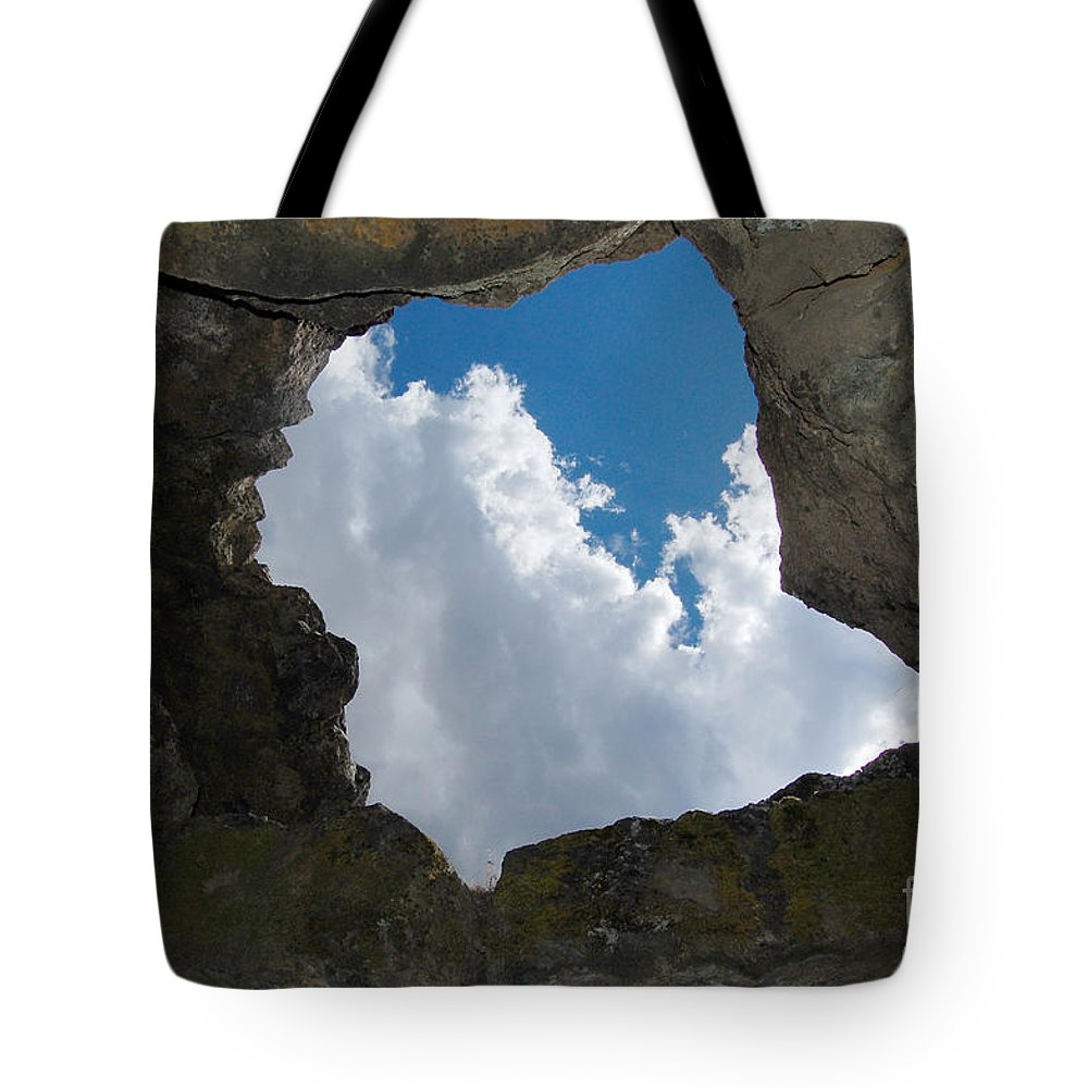 Lava Beds National Monument Tote Bag featuring the photograph Looking Up by Debra Thompson