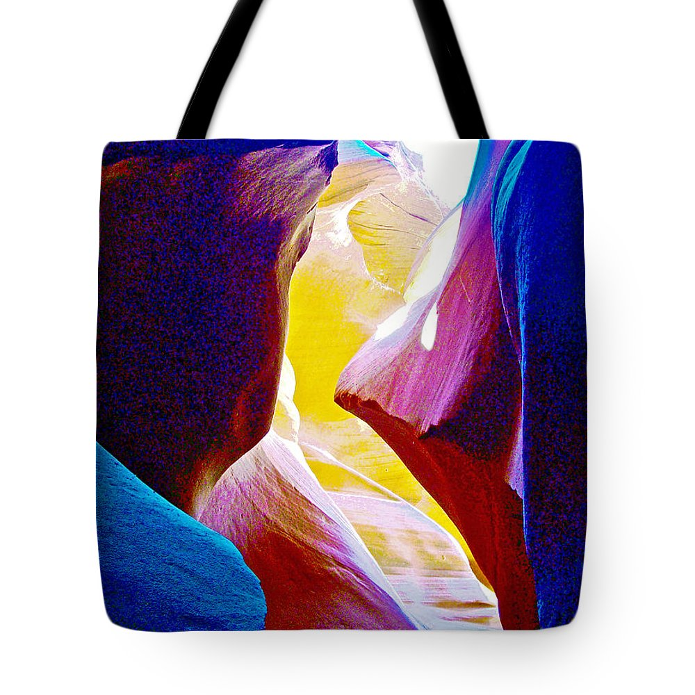 Looking Up In Lower Antelope Canyon In Lake Powell Navajo Tribal Park Tote Bag featuring the photograph Looking Up In Lower Antelope Canyon In Lake Powell Navajo Tribal Park-arizona by Ruth Hager