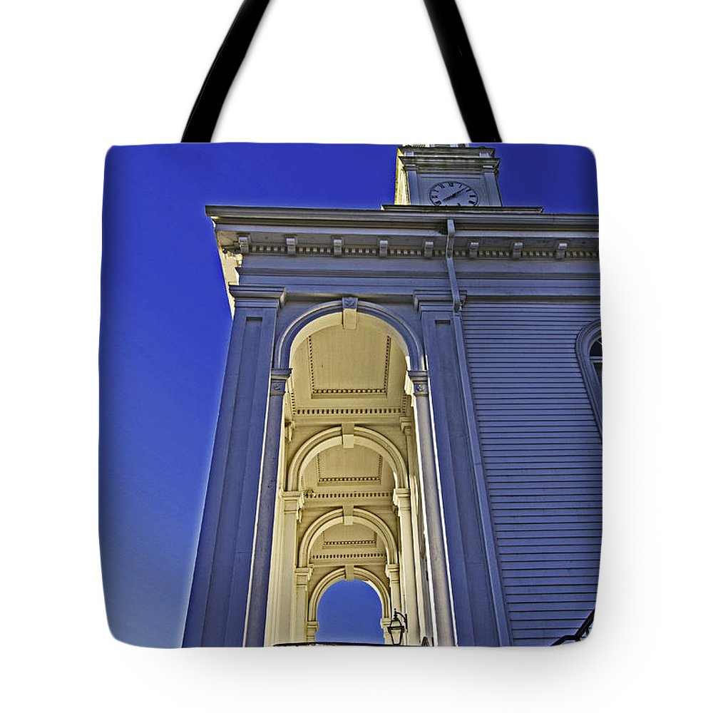Church Tote Bag featuring the photograph Looking Up by Joe Geraci