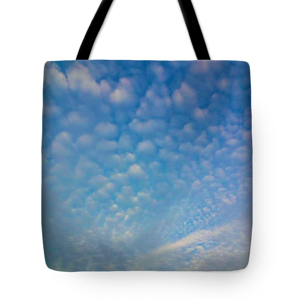 Blue Tote Bag featuring the photograph Looking Up by Kimberlee Marvin