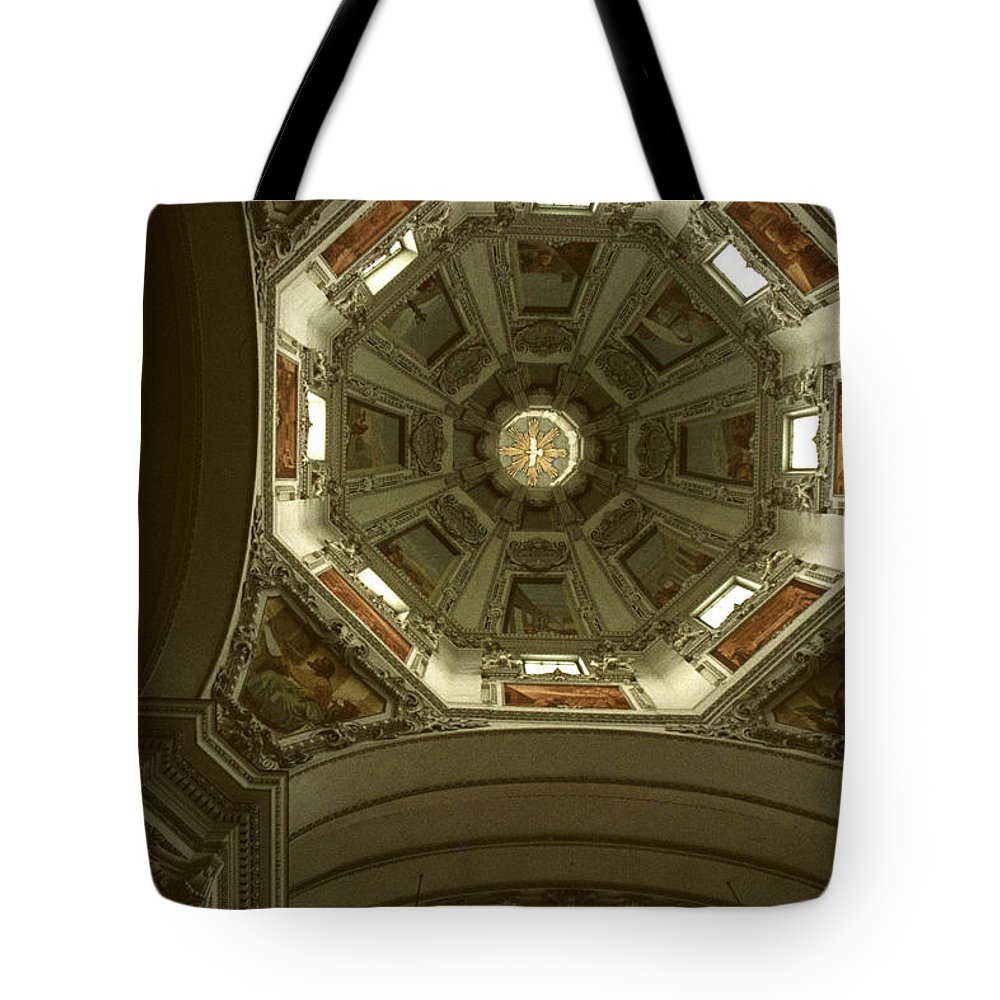 Looking Up Tote Bag featuring the photograph Looking Up Salsburg by David Hohmann