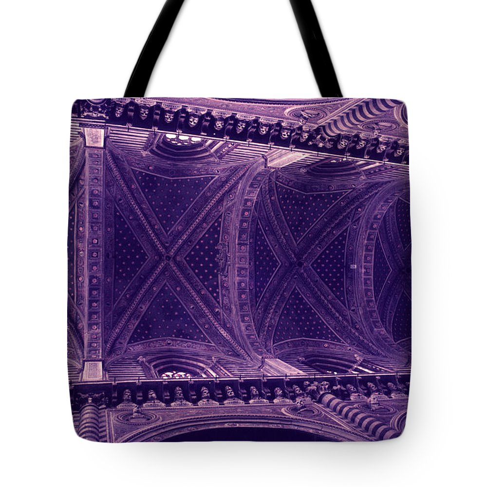 Looking Up Tote Bag featuring the photograph Looking Up Siena Cathedral by David Hohmann