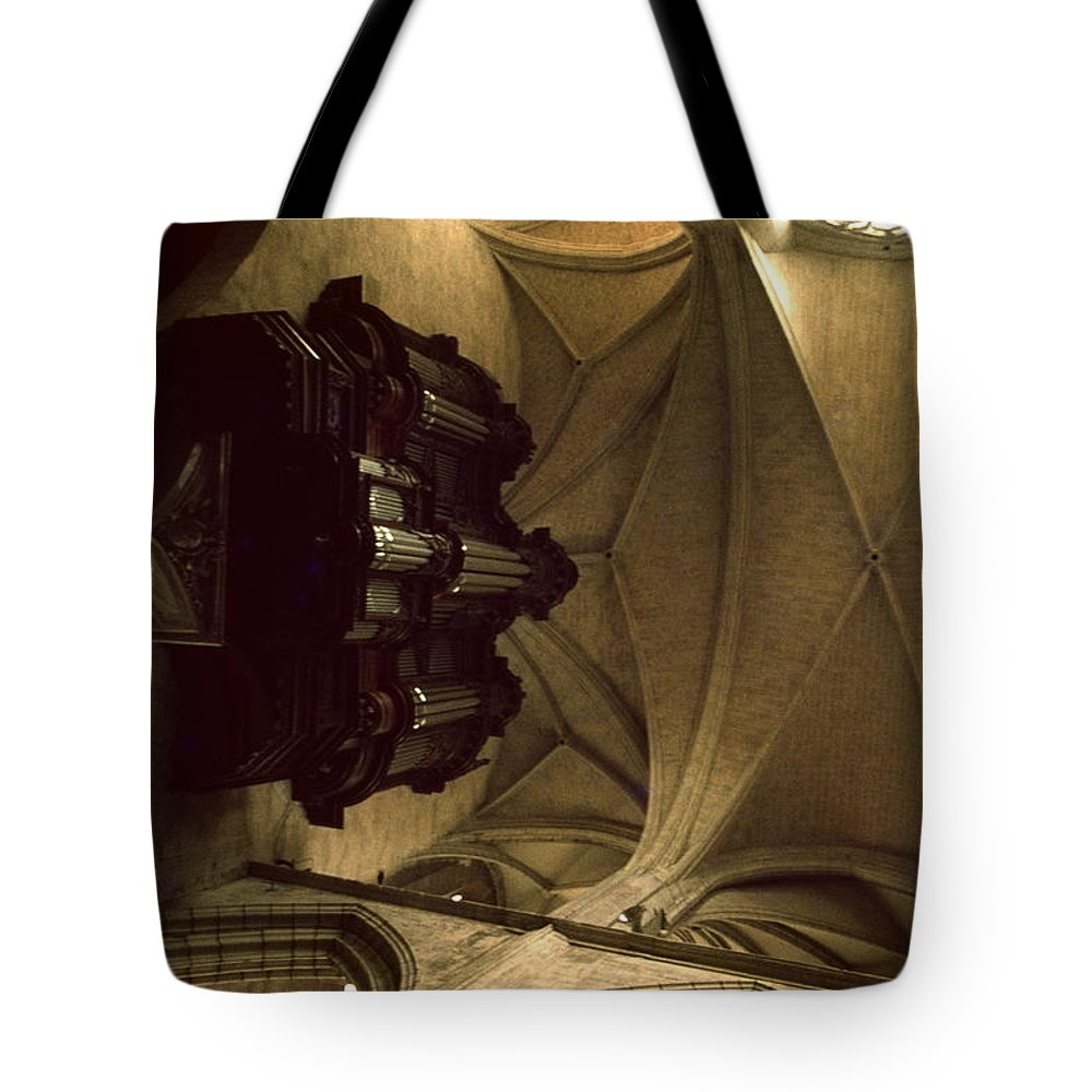 Toulouse Tote Bag featuring the photograph Looking Up Toulouse Cathedral by David Hohmann