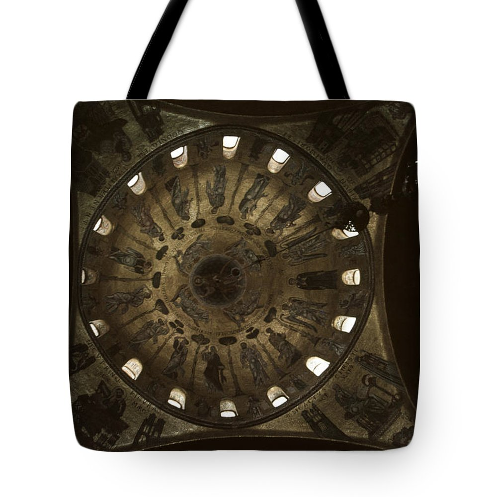 Looking Up Tote Bag featuring the photograph Looking Up Saint Mark's by David Hohmann