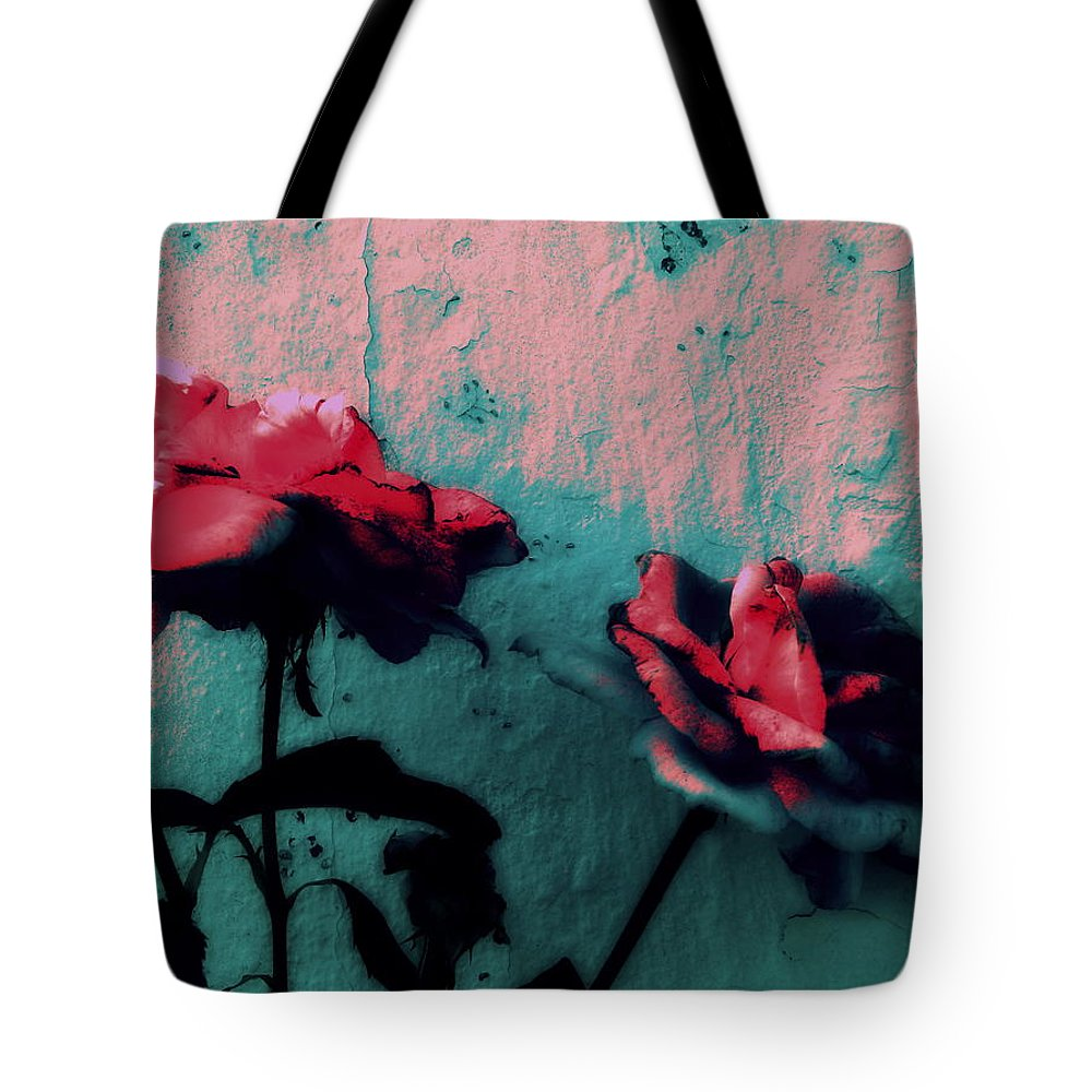 Paint-like Tote Bag featuring the photograph Looks Like Painted Roses Abstract by Kathy Barney