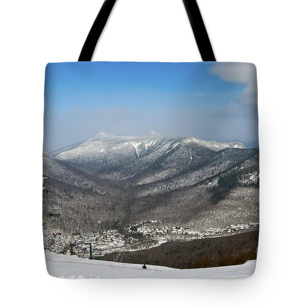 loon mountain ski resort white mountains lincoln nh tote bag for
