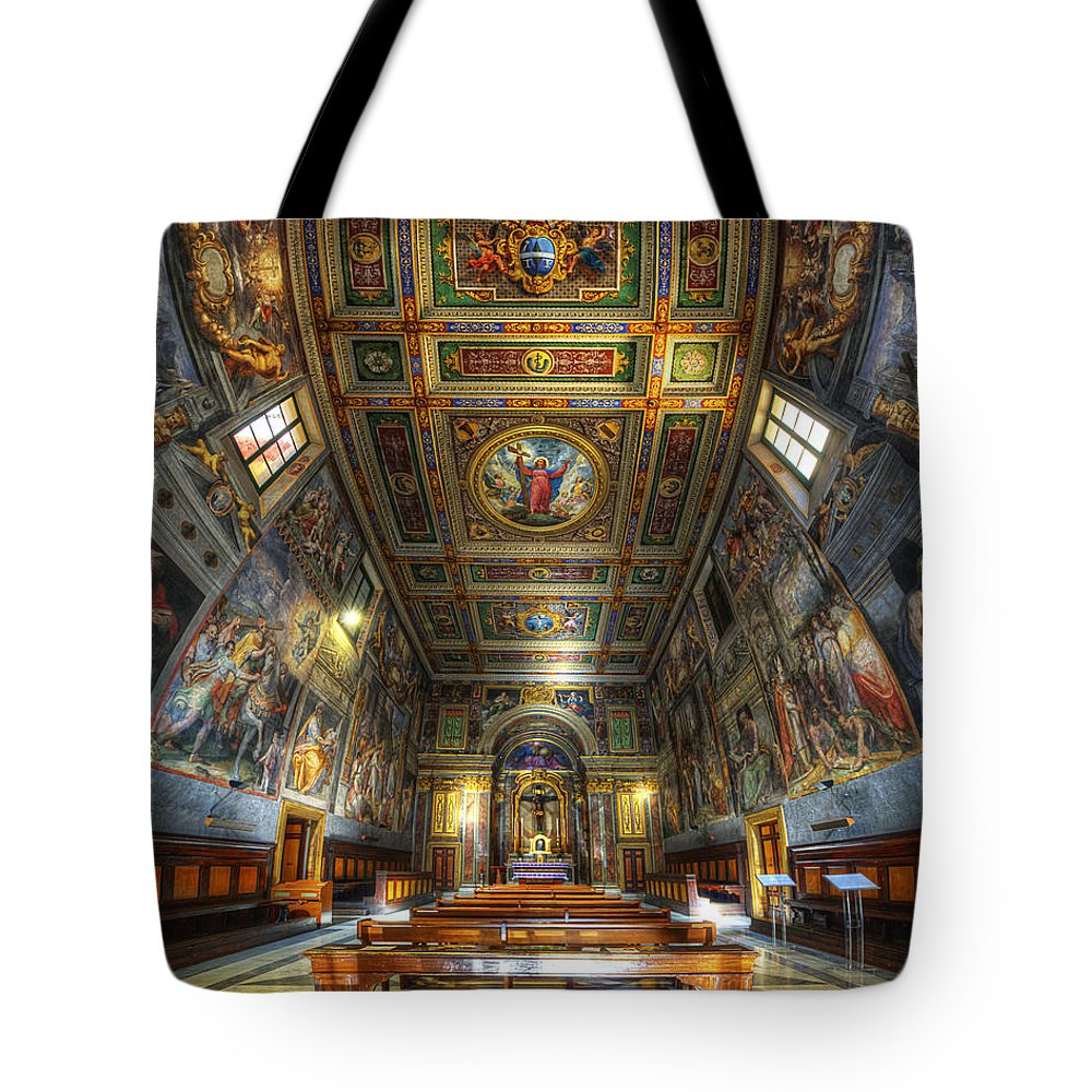 Yhun Suarez Tote Bag featuring the photograph L'oratorio Del Santissimo Crosifisso by Yhun Suarez