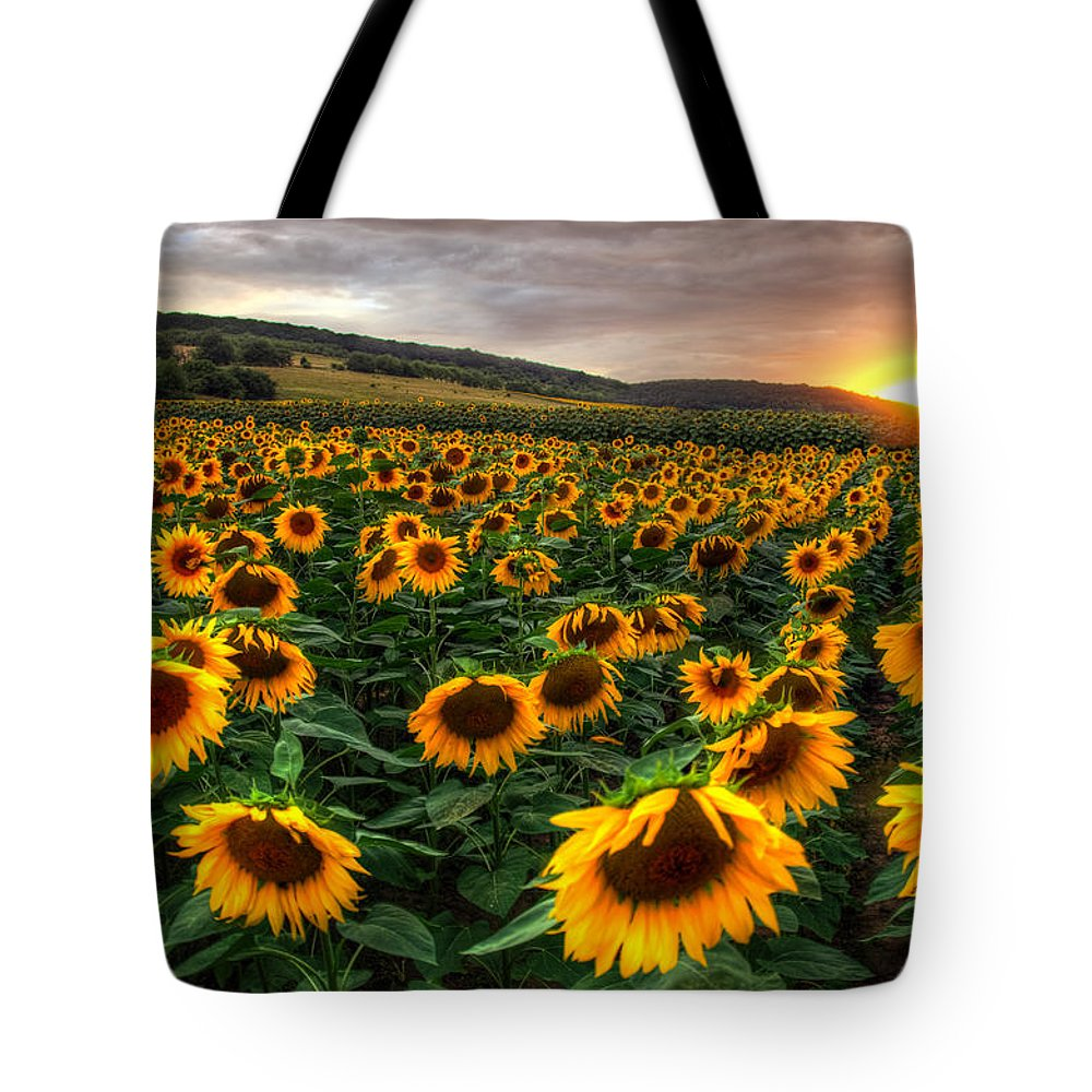 Sommer Tote Bag featuring the pyrography Lord Of The Sun by Steffen Gierok