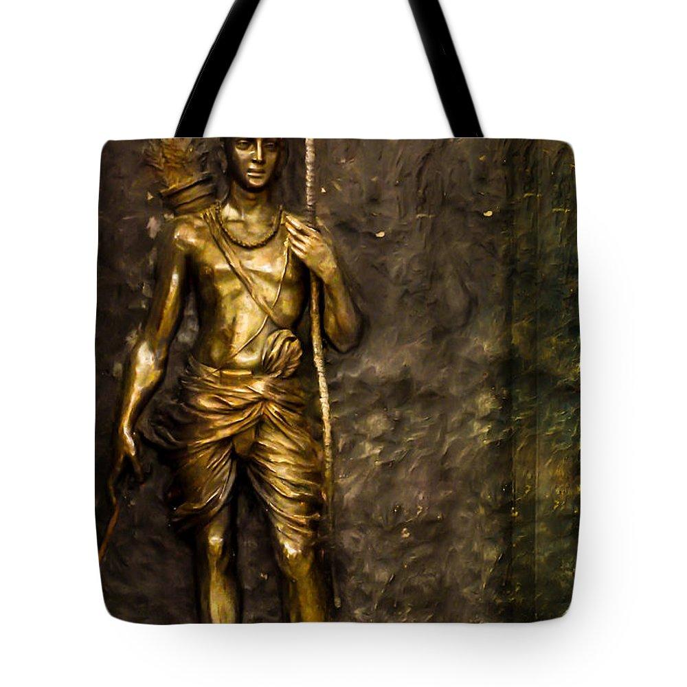 Lord Tote Bag featuring the photograph Lord Sri Ram by Kiran Joshi