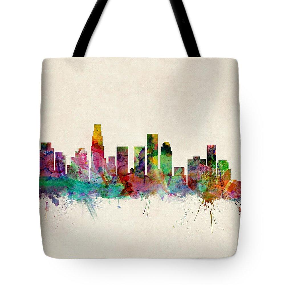 Los Angeles Skyline Tote Bags
