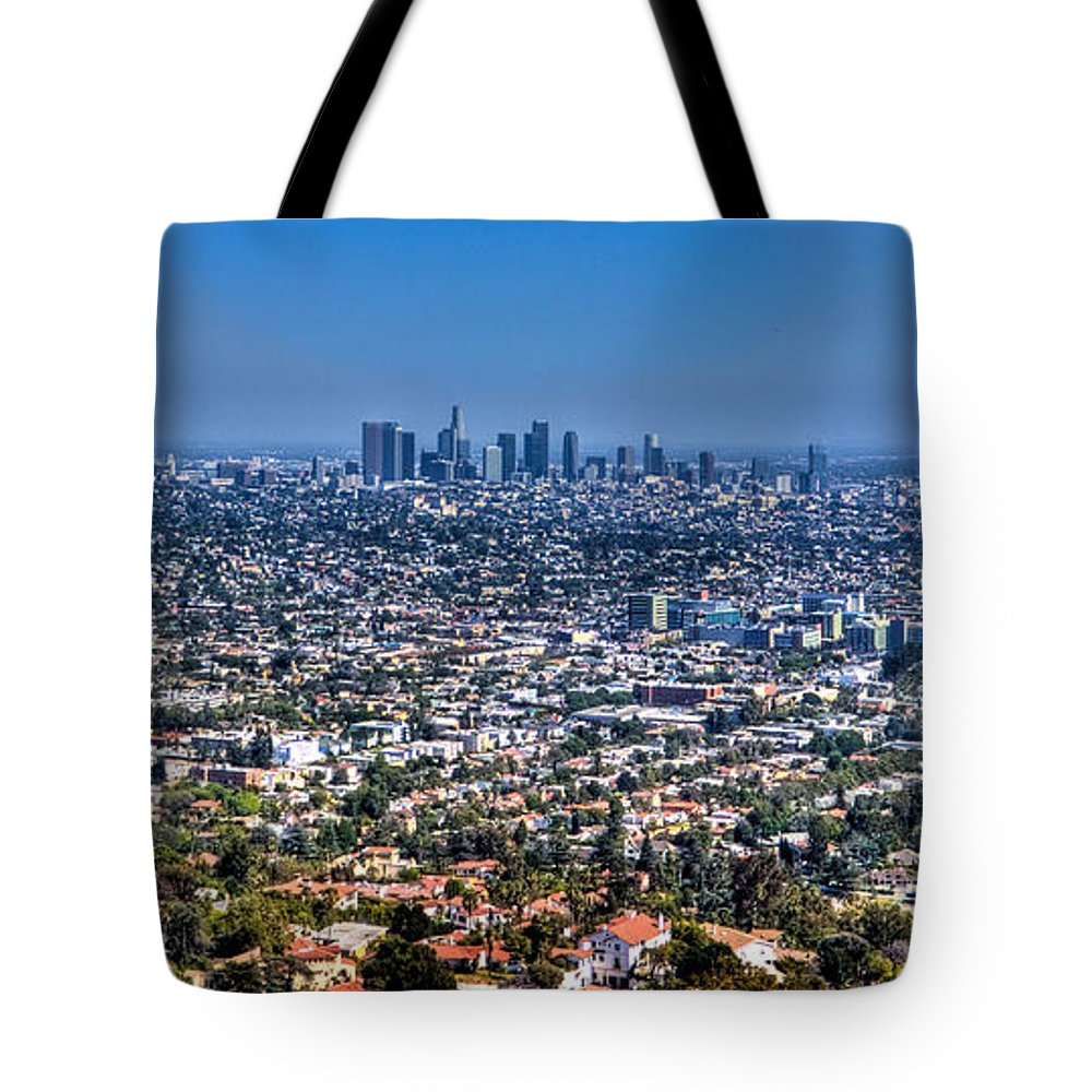 Wide Tote Bag featuring the photograph Los Angeles by Jonny D
