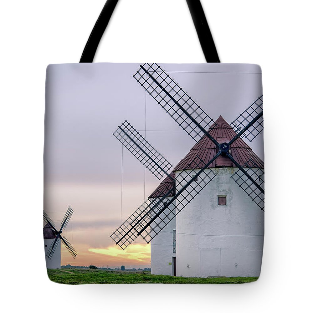 Environmental Conservation Tote Bag featuring the photograph Los Gigantes Del Quijote by Eddy Photo