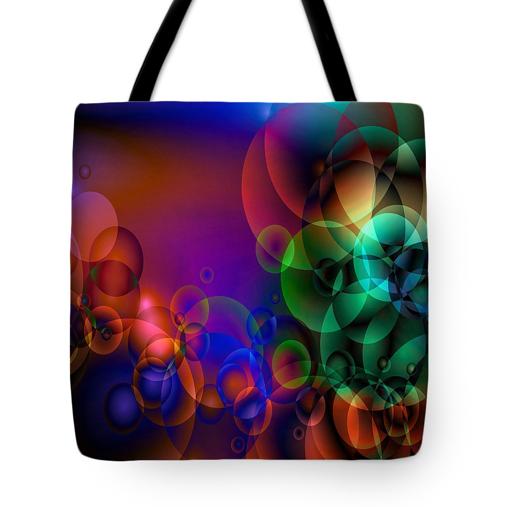 Abstract Tote Bag featuring the digital art Lost 1 by Angelina Vick
