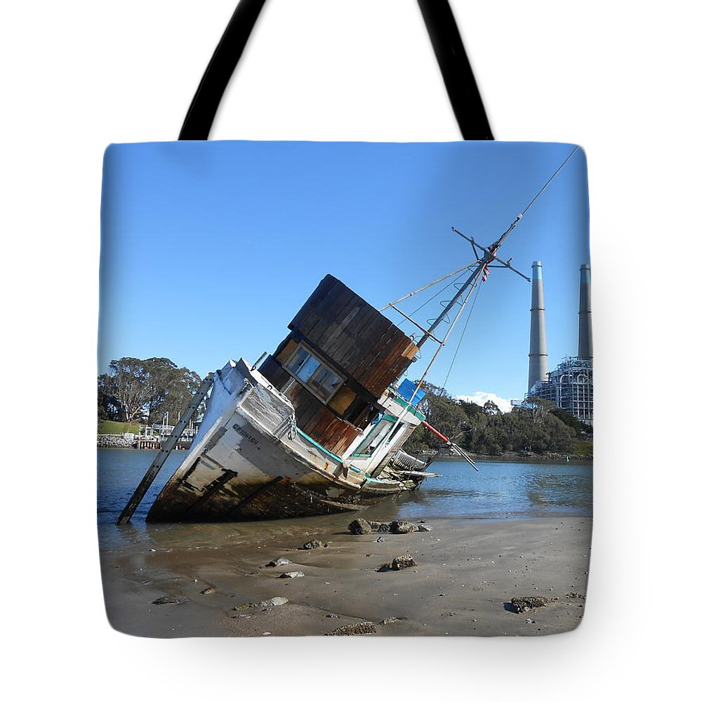 Birds Tote Bag featuring the pyrography Lost At Sea by Larry Daeumler