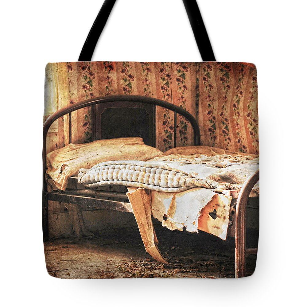 Bed Tote Bag featuring the photograph Lost Dream by The Artist Project