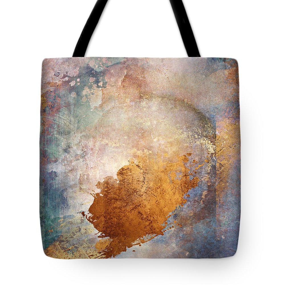 Abstract Tote Bag featuring the digital art Lost In Translation by Aimee Stewart