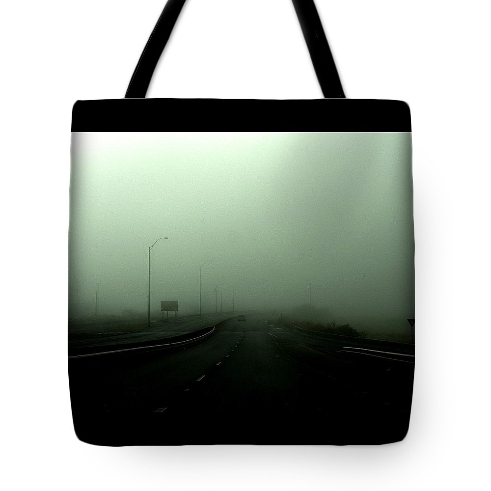 Smog Tote Bag featuring the photograph Lost by M Pace