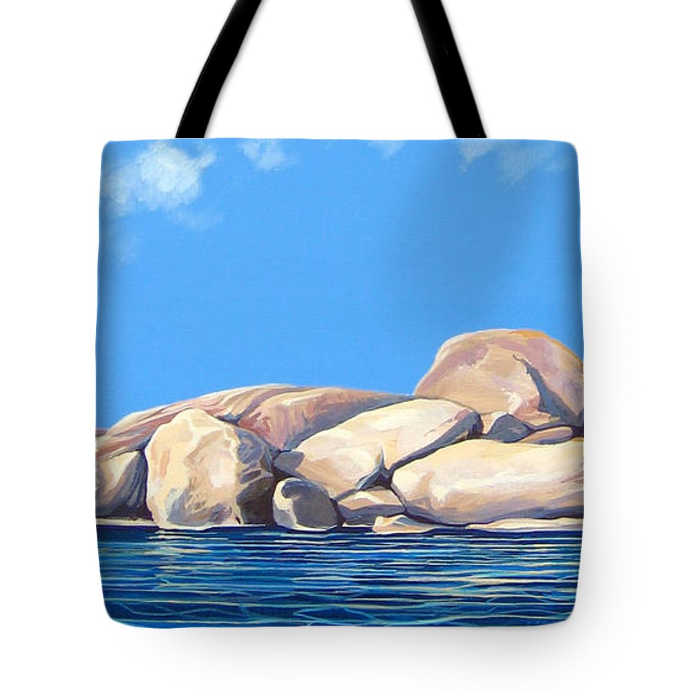 Rocks Tote Bag featuring the painting Lost Voices by Hunter Jay