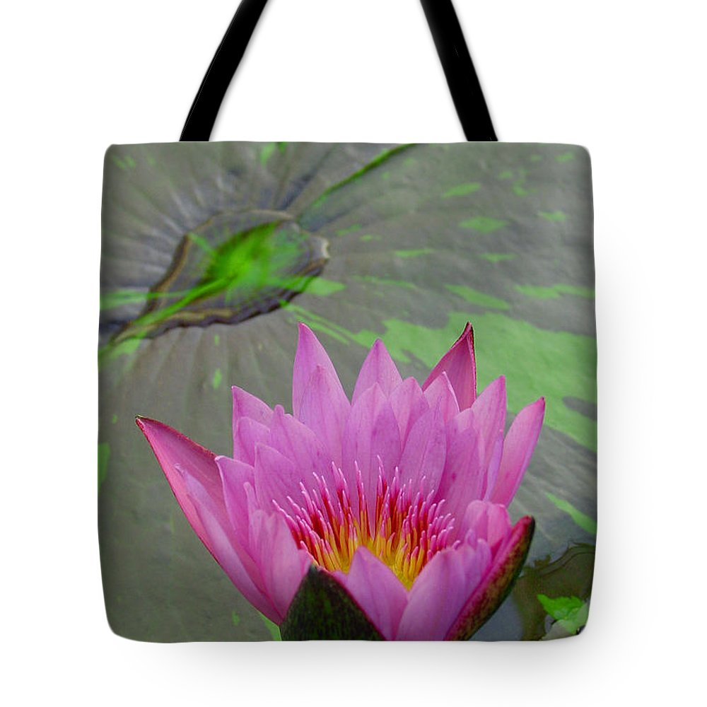 Lotus Tote Bag featuring the photograph Lotus Blossom by Suzanne Gaff