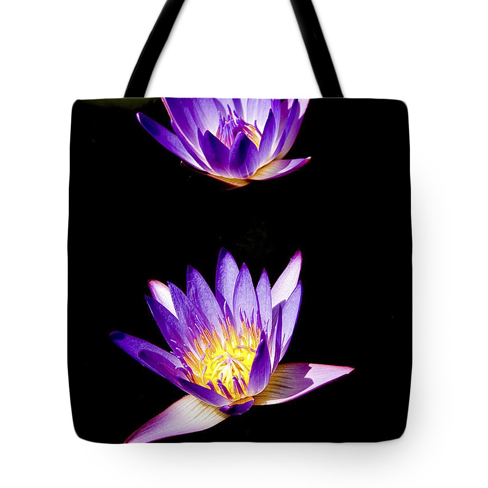 Lotus Tote Bag featuring the photograph Lotus Flowers by Peter Lloyd