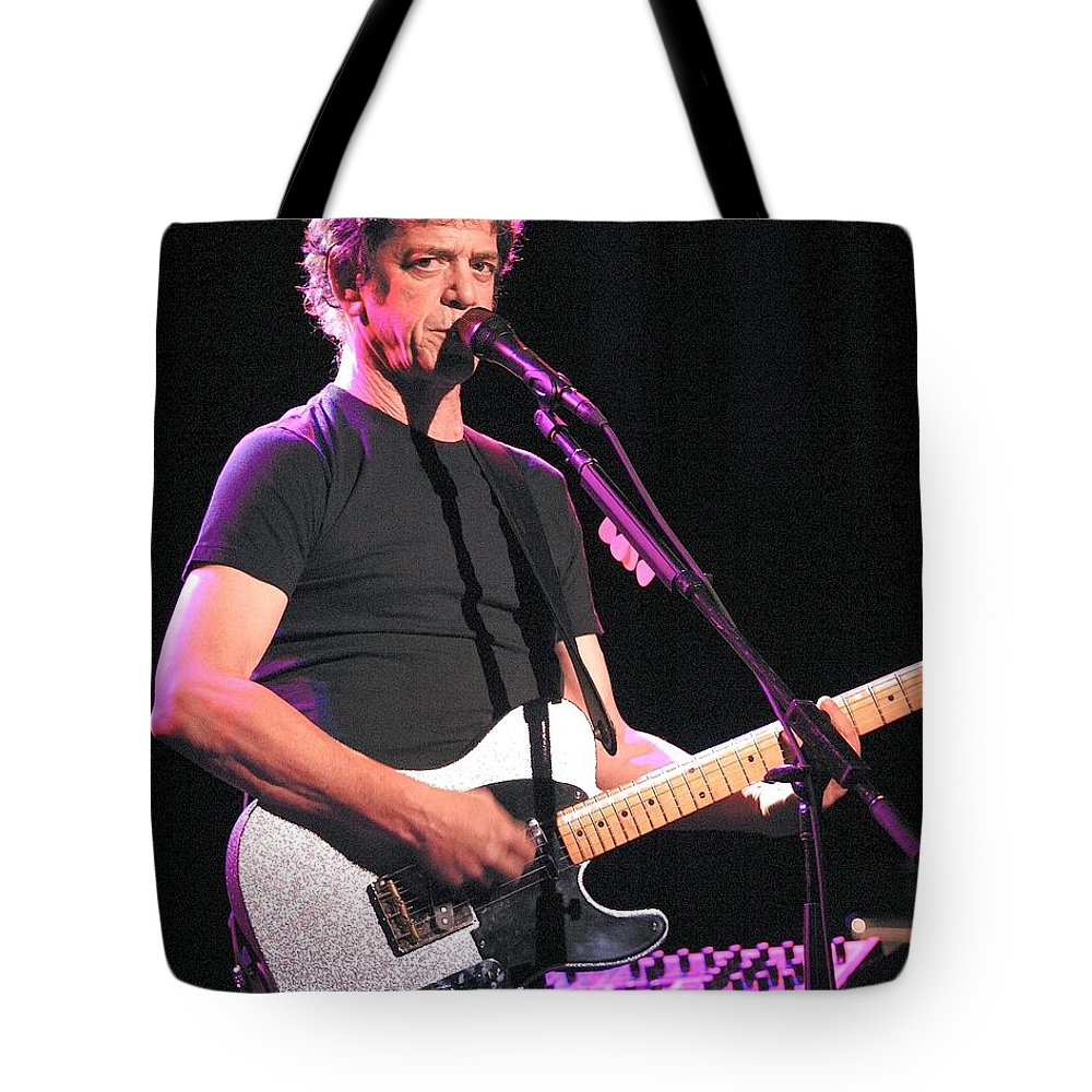 Principal Songwriter Of The Velvet Underground Tote Bag featuring the photograph Lou Reed by Concert Photos